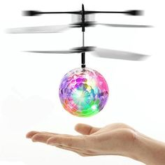RC Toy EpochAir RC Flying Ball RC Drone Helicopter Ball Built-in With Shinning LED Lighting