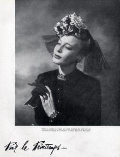 Caroline Reboux Hat & Mellerio 1941