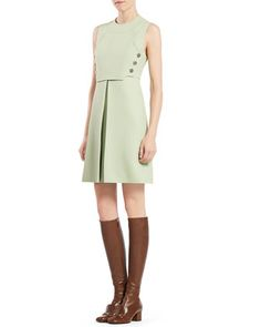 Wool Silk Sleeveless Dress by Gucci at Neiman Marcus.
