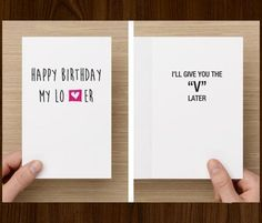 Naughty Birthday Card For Boyfriend Him I'll by diamonddonatello, $5.68