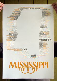 Items similar to Yellow and Gray Mississippi State Typographical Silhouette Outline Poster Print on Etsy Mississippi Mud, University Of Mississippi, Southern Sayings, Southern Belle, Poster On, Poster Prints, Yazoo, Song Of The South, Alma Mater