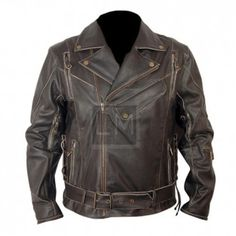 Terminator 2 Distressed Black Leather Jacket