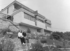 1971. Endrődy Sándor utca 67. Ruttkai Éva és Latinovits Zoltán közös otthonuk kertjében.