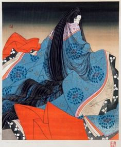 "The work recounts the life of Hikaru Genji, or ""Shining Genji"", the son of an ancient Japanese emperor, known to readers as Emperor Kiritsubo, and a low-ranking but beloved concubine called Lady Kiritsubo. Japanese Artists, Ancient Japanese, Ancient Japanese Art, Japanese Woodblock Printing, Illustration Art, Art, Ukiyoe, Eastern Art, Geisha Art"