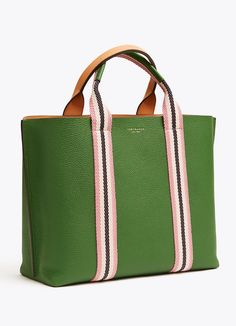 Visit Tory Burch to shop for Perry Multi-stripe Triple-compartment Tote and more Women's Handbags. Find designer shoes, handbags, clothing & more of this season's latest styles from designer Tory Burch. Popular Handbags, Cheap Handbags, Purses And Handbags, Best Purses, Cute Purses, Tote Backpack, Cute Bags, Casual Bags, Large Bags