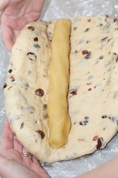 Almond paste 250 g white unsalted almonds 250 g fine sugar zest of 1 unwaxed lemon little bit of water (around 50 g/ml) Delicious Cake Recipes, Yummy Cakes, Dessert Recipes, Dutch Recipes, Baking Recipes, Christmas Stollen Recipe, Filet Mignon Chorizo, Christmas Cooking, Bread Baking
