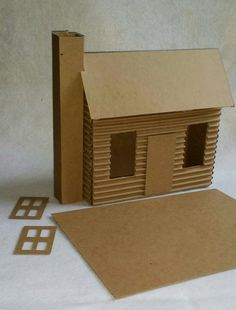 Putz Style Houses- Large Cabin- DIY by littlevillagehouses on Etsy https://www.etsy.com/listing/253194122/putz-style-houses-large-cabin-diy
