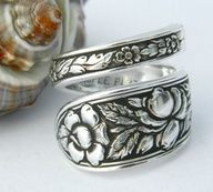 Antique Silver Spoon Ring, Silverware Jewelry, Met Rose by CaliforniaSpoonRings on Etsy Silver Spoon Jewelry, Fork Jewelry, Silverware Jewelry, Silver Spoons, Jewelry Rings, Jewelry Accessories, Silver Rings, Ruby Rings, Jewellery Earrings