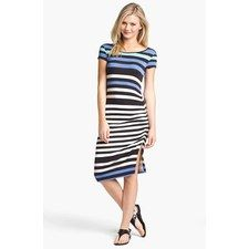 FELICITY COCO Stripe Shirred Jersey T-Shirt Dress (Nordstrom Exclusive) | Nordstrom