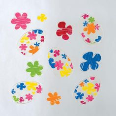 GelWonder | Window Clings | Large Bag of Crayon, Flower and Egg | Easter Eggs | Can be used on any non-porous surface | www.homearama.co.uk