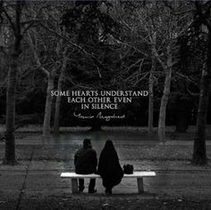 Some hearts understand each other even in silence. Muslim Couple Quotes, Cute Muslim Couples, Muslim Quotes, Islamic Love Quotes, Islamic Inspirational Quotes, Halal Love, Jodoh Quotes, Islam Marriage, Love In Islam