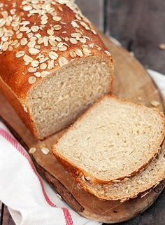 Oatmeal Buttermilk Whole Wheat Bread - Food and Family