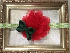 Christmas Headband Red and Green Headband by CuteNCoutureBoutique, $12.00