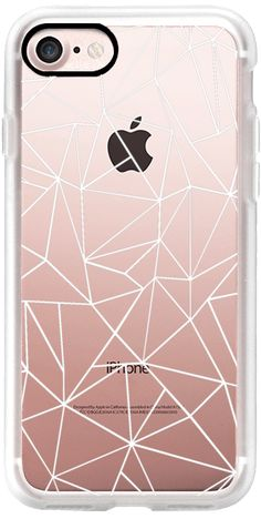 Casetify iPhone 7 Classic Grip Case - Abstraction Outline White Transparent by Project M #Casetify