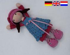 Ganchillo patrones para muñeca SUE Deutsch Inglés por CAROcreated