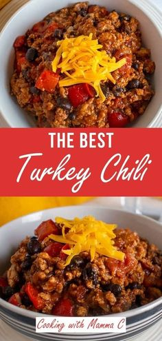 This Terrific Turkey Chili with Black Beans has just the right amount of sweetness and smoky flavor, thanks to a little barbecue sauce. This has been my go-to chili recipe for years! Best Turkey Recipe, Turkey Recipes, Barbecue Sauce, Bbq, Turkey Chili, Chili Recipes, Red Peppers, Black Beans, Breakfast Recipes