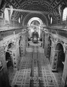 On Ash Wednesday, a look back at the 1950 excavation of the tombs beneath the Vatican. Here, a view of light streaming into St. Peter's basilica. See more: http://ti.me/1wFJnq8  (Nat Farbman—The LIFE Picture Collection/Getty Images)
