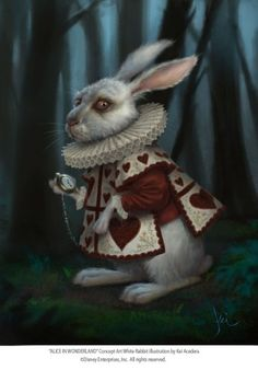 Tim Burton's Alice in Wonderland white rabbit