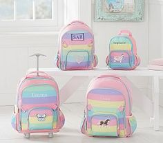 Fairfax Pink White Stripe Backpacks Skeen Twins