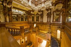 The Grand Staircase - Harlaxton Manor Also known as The Cedar Staircase.