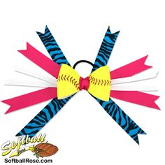 Handmade Softball Hair Bow made from real softball leather Softball Hair Bows, Softball Hairstyles, Different Font Styles, Softball Players, Making Hair Bows, Pink Turquoise, Little Girl Hairstyles, Cute Bows, Ribbon Colors