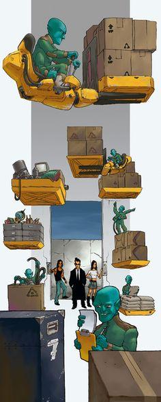 Art Gallery d20 Modern Urban Arcana - Warehouse and Blix