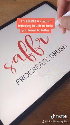 Lettering Tutorial, Hand Lettering, Apple Pencil Apps, Inkscape Tutorials, Digital Art Beginner, Ipad Hacks, Get Thin, Ipad Art, Life Hacks