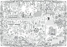 Amazon.fr - Colo géant - jardin merveilleux - Lili la baleine - Livres Colouring Pages, Printable Coloring Pages, Art Mural, Illustrations, One Color, Oeuvre D'art, Zentangle, More Fun, Framed Art