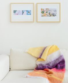 African Bright Stripes mohair throw by Hinterveld / from Scaapi ~ Via Bloesem