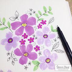 Marker Pen Florals - sketchbook - Rebecca Stoner www.rebeccastoner.co.uk