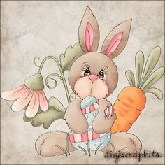Bunny Belle 1 Clip Art Single - Click Image to Close