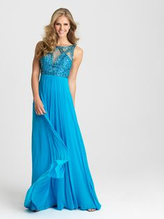 Madison James Collections  Style  16-418 Turquoise Prom Dresses cdae95b92ee4