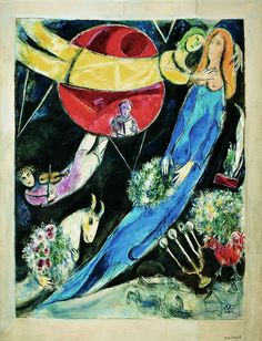 Marc Chagall - Mondo rosso e nero o Sole rosso (Red and black world) 1951 Gouache, watercolor, pastel on paper pasted on canvas Private collection Marc Chagall, Pablo Picasso, Chagall Paintings, Jewish Art, Expositions, Naive Art, Henri Matisse, Museum Of Fine Arts, Art Forms