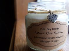 Brownie Fudge Baby Jar Soy Candle 2 oz by autumnraincreations, $4.50