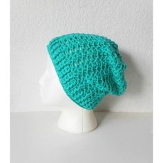 Jade Green Lacy Slouch Beanie Hat, ready to ship. ($45) ❤ liked on Polyvore featuring accessories, hats, lace hat, green slouchy beanie, slouch beanie, slouchy hat and green slouch beanie