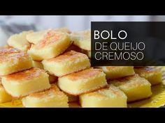 Receita de bolo fácil de liquidificador, bolo de queijo parmesão que confere uma textura super macia e um contraste entre o salgadinho do queijo e o doce.