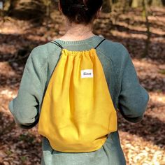 Yellow TwelveBag Drawstring Backpack, Universe, Backpacks, Yellow, Bags, Collection, Fashion, Handbags, Moda