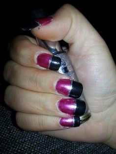 Pink manicure with silver detail. Pink Manicure, My Nails, Nail Art, Detail, Silver, Beauty, Nail Arts, Beauty Illustration, Nail Art Designs
