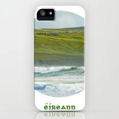 Ireland written in Gaelic - Eireann iPhone Case by Dustin Hall - $35.00
