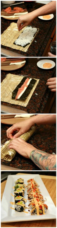 Easy way to make sushi! So easy.. can't believe I didn't know this. LOVE IT. @Julie 'Lemin' Heinz Vinegar #heinzvinegar #sponsored