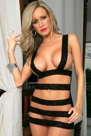 Black Strappy Lace Chemise