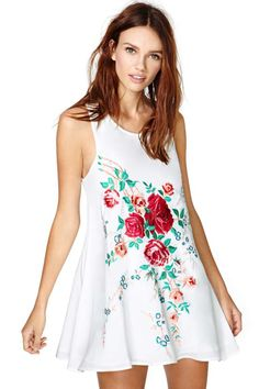 Painted Rose Dress