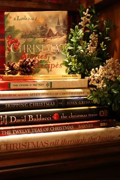 Carol Beck Interiors~Beautiful collection of Christmas books ❤❦♪♫