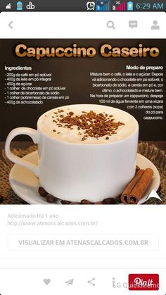 Cafe cremoso. Juicing For Health, Cappuccinos, Love Cafe, Chocolate Caliente, Coffee Break, I Love Coffee, Coffee Recipes, Chocolates, Confort Food