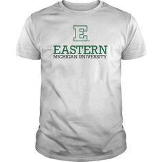 Eastern Michigan University T Shirts, Hoodies Sweatshirts. Check price ==► https://www.sunfrog.com/LifeStyle/Eastern-Michigan-University-White-Guys.html?57074