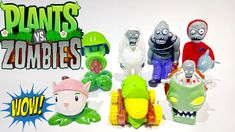 Play Doh Plants vs Zombies Toys Action Figure Surprise Egg Video Plantas...
