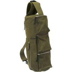 Hideo Wakamatsu Women's Ninja Bag (600 DKK) ❤ liked on Polyvore featuring bags, handbags, shoulder bags, no color, brown cross body, crossbody shoulder bag, canvas purse, canvas crossbody and brown purse