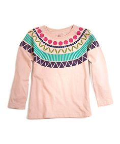 Another great find on #zulily! Pink Egyptian Collar Organic Tee - Toddler & Girls by Soft Clothing #zulilyfinds