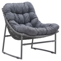 $320 Zuo Vive Ingonish All-Weather Wicker Beach Chair - You don't need to kiss your productivity goodbye in the Zuo Vive Ingonish Aluminum Beach Chair - Gray, you just need to orient your career to ...