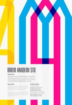 type specimen poster briem akademi std